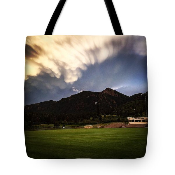 Cadet Soccer Stadium Tote Bag by Christin Brodie