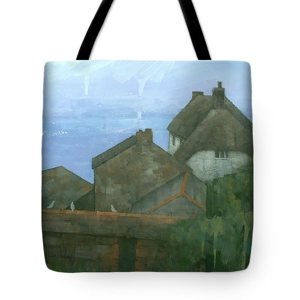 Cadgwith Rooftops Tote Bag by Steve Mitchell