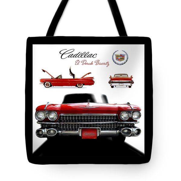 Tote Bag featuring the photograph Cadillac 1959 by Gina Dsgn