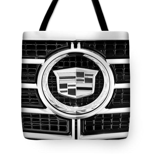 Cadillac Emblem Front Bw Tote Bag