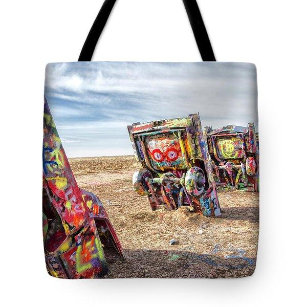 Cadillac Ranch 1 Tote Bag