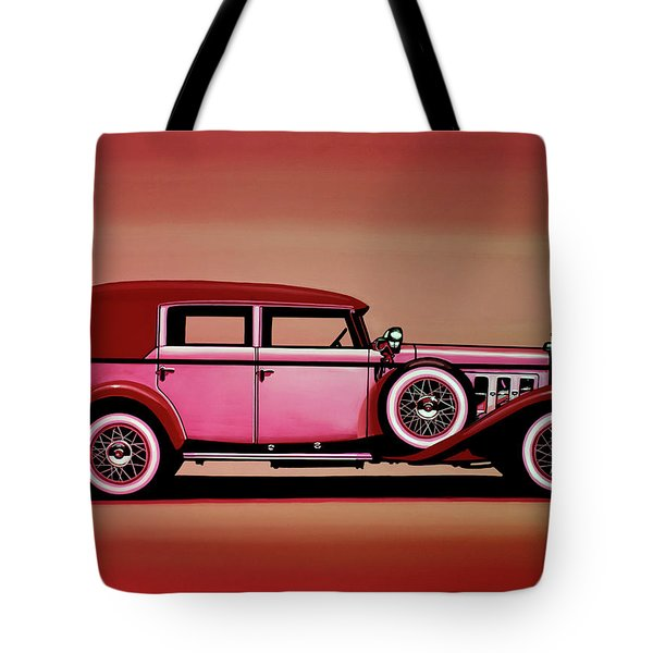 Cadillac V16 Mixed Media Tote Bag