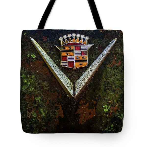 Cadillac Vee And Crest Tote Bag
