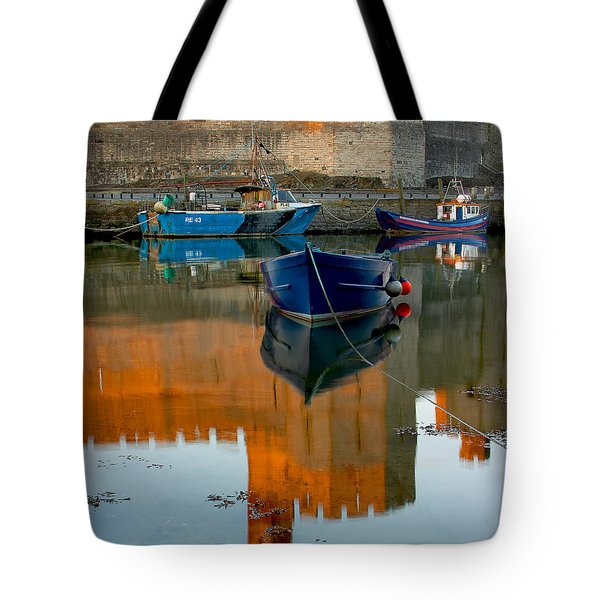 Caernarfon Reflections Tote Bag