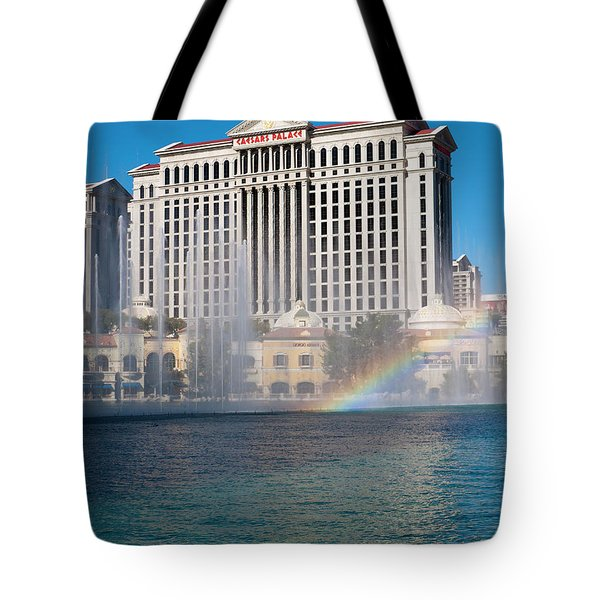Caesar's Rainbow Tote Bag by Rae Tucker