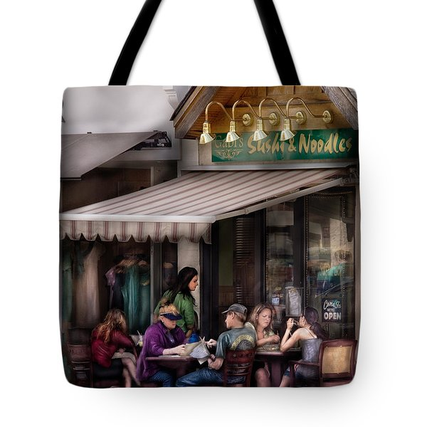 Cafe - Westfield Nj - Gabi's Sushi And Noodles Tote Bag by Mike Savad