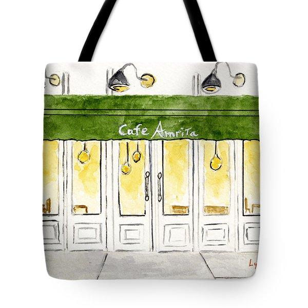 Cafe' Amrita  Tote Bag