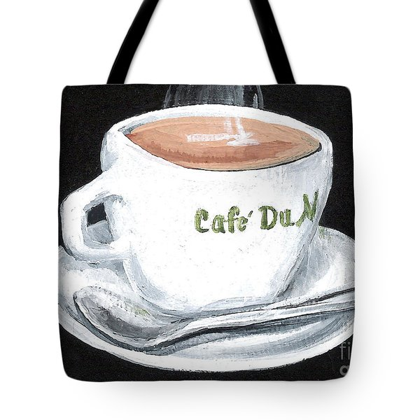 Cafe Au Lait Tote Bag by Elaine Hodges
