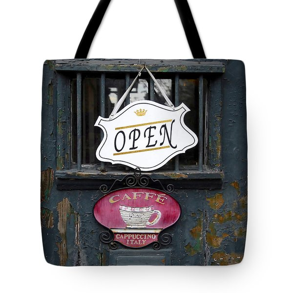 Cafe Cappuccino Tote Bag by David Lee Thompson