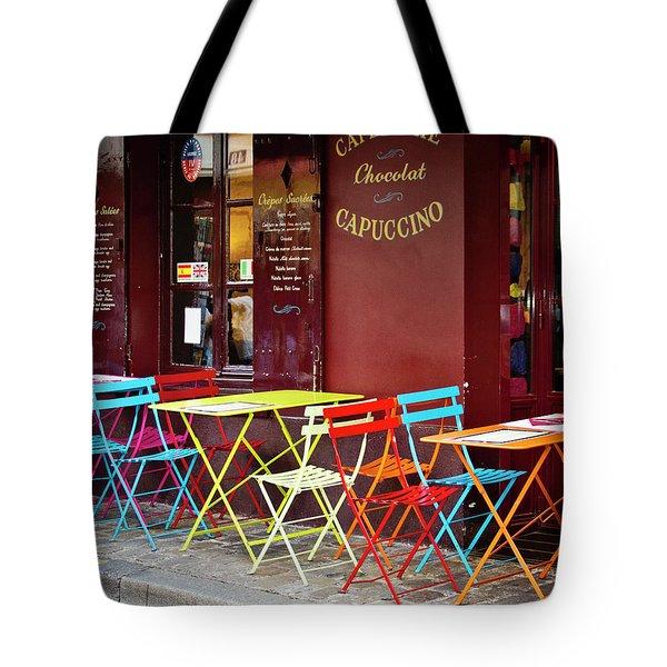 Cafe Color - Paris, France Tote Bag