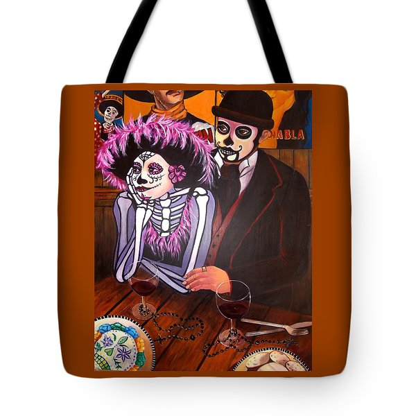 Cafe- Day Of The Dead Tote Bag