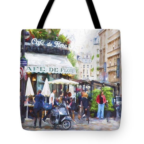 Cafe De Flores Tote Bag by John Rivera