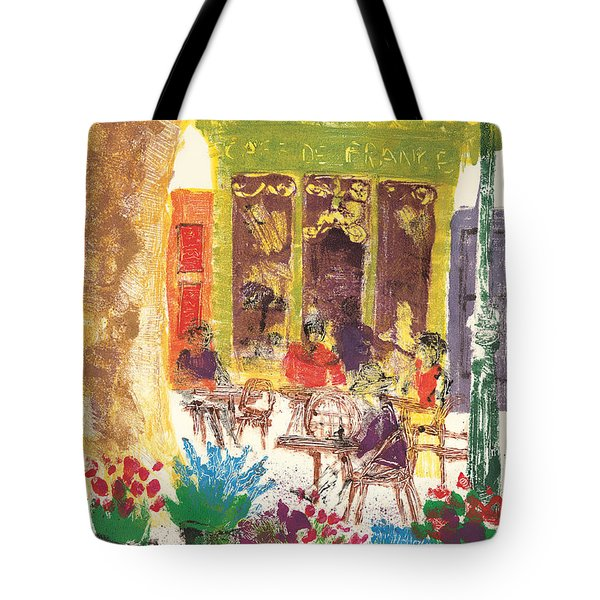 Tote Bag featuring the painting Cafe De France by Martin Stankewitz