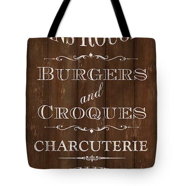 Tote Bag featuring the painting Cafe De Paris 1 by Debbie DeWitt