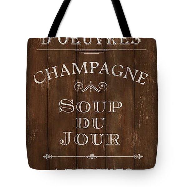 Tote Bag featuring the painting Cafe De Paris 2 by Debbie DeWitt