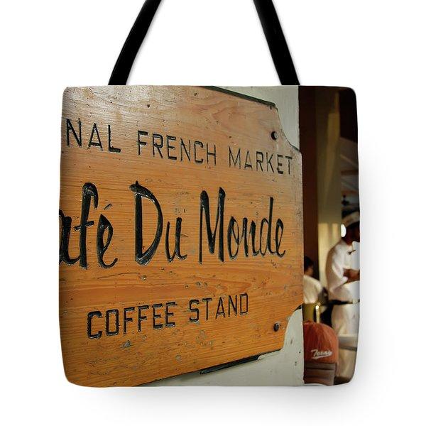 Tote Bag featuring the photograph Cafe Du Monde by KG Thienemann