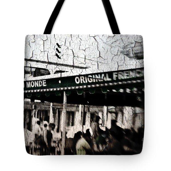 Cafe Du Monde Tote Bag by Scott Pellegrin