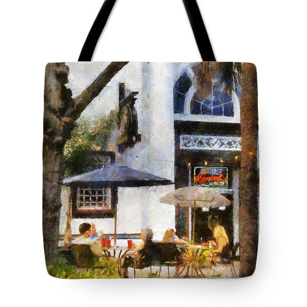 Tote Bag featuring the digital art Cafe by Francesa Miller