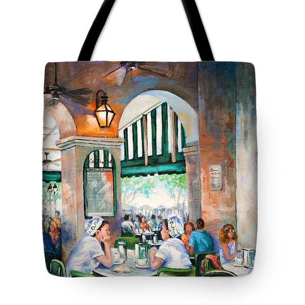 Cafe Girls Tote Bag by Dianne Parks