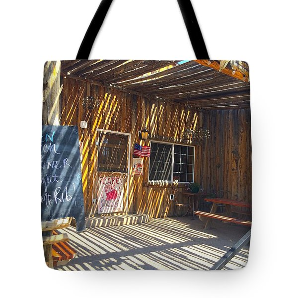Cafe In Stripes Tote Bag