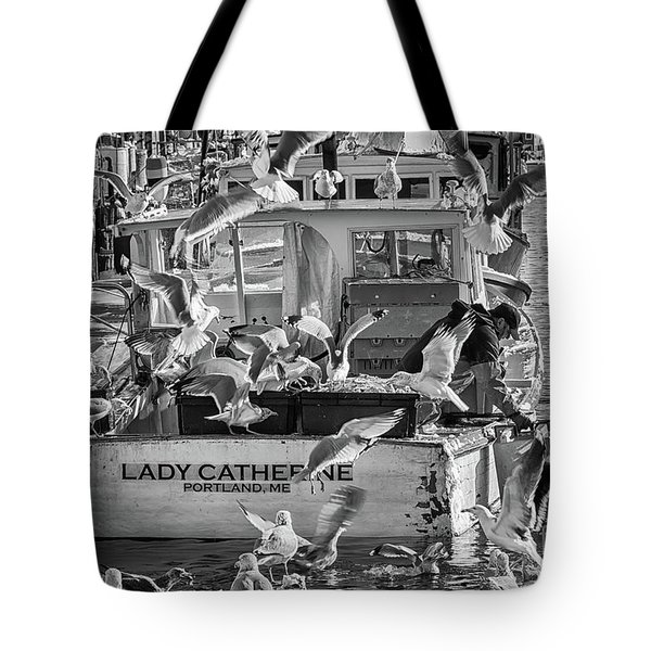 Cafe Lady Catherine Black And White Tote Bag