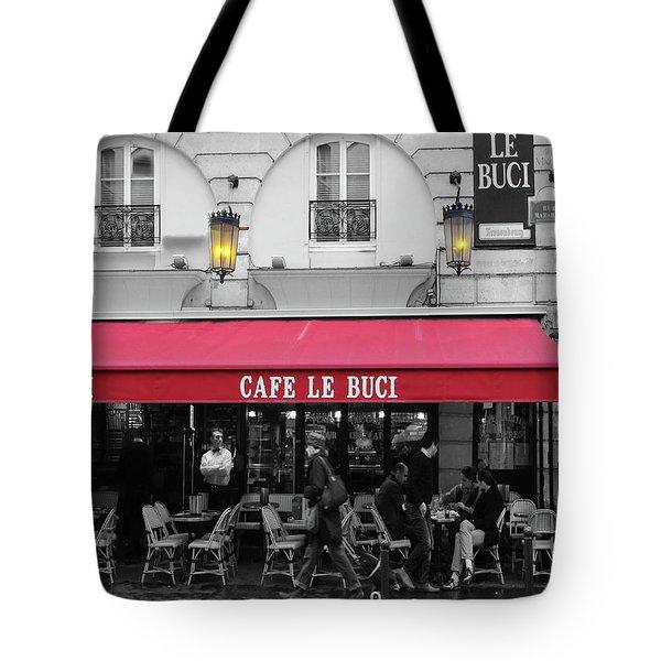 Cafe Le Buci Tote Bag by Tom Reynen