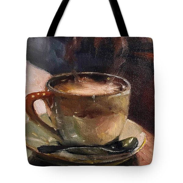 Cafe Love Coffee Painting Tote Bag