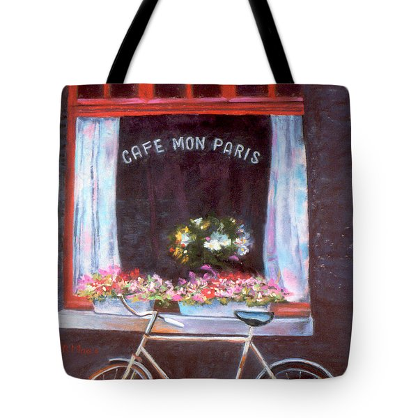 Cafe Mon Paris Tote Bag by Julie Maas
