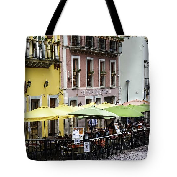 Cafe Of Pretty Umbrellas  Tote Bag