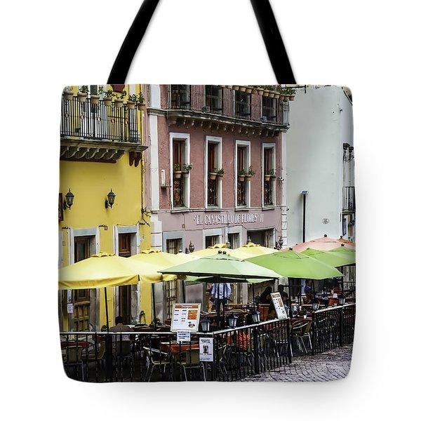 Cafe Of Pretty Umbrellas  Tote Bag