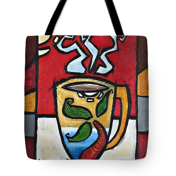 Tote Bag featuring the painting Cafe Palmera by Oscar Ortiz