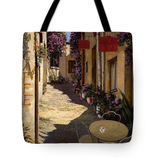 Cafe Piccolo Tote Bag by Guido Borelli