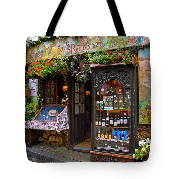 Cafe Poulbot Tote Bag by Harry Spitz