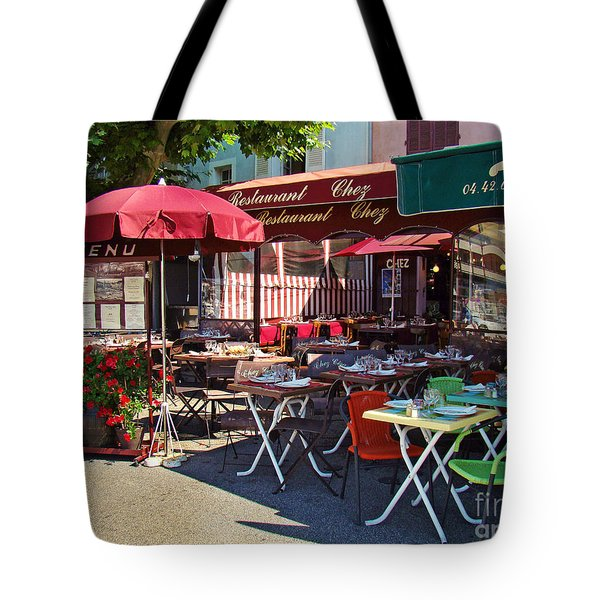 Cafe Scene In France Tote Bag