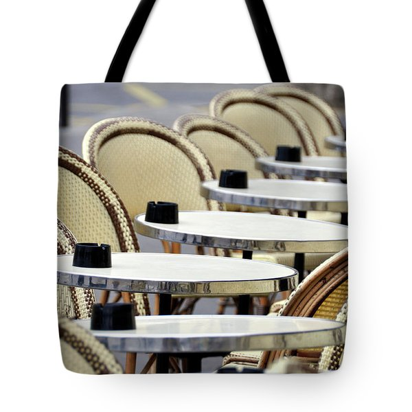 Cafe Terrace In Paris Tote Bag
