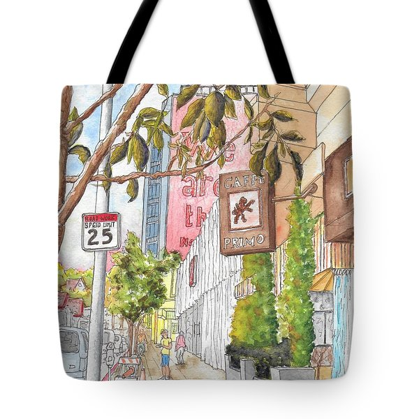 Cafee Primo In Sunset Plaza, West Hollywood, California Tote Bag
