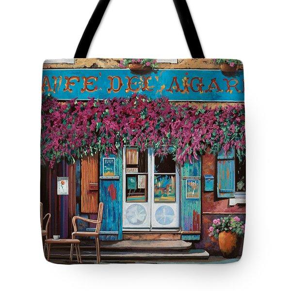 caffe del Aigare Tote Bag by Guido Borelli