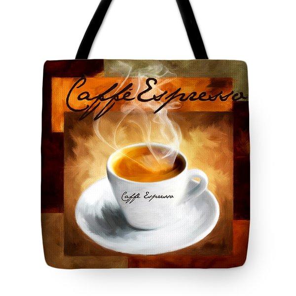 Caffe Espresso Tote Bag by Lourry Legarde