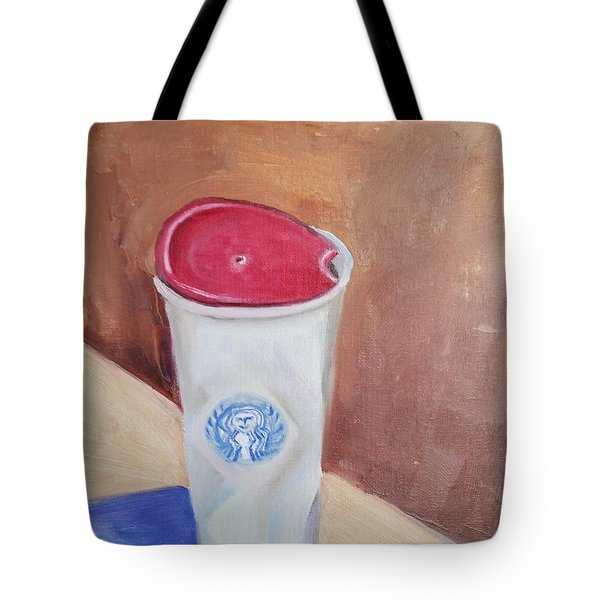 Caffe' Latte Tote Bag by Carol Duarte