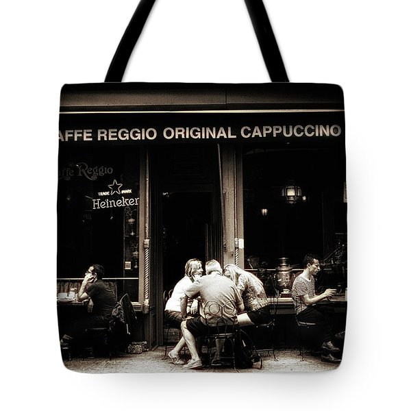 Caffe Reggio Scene Tote Bag