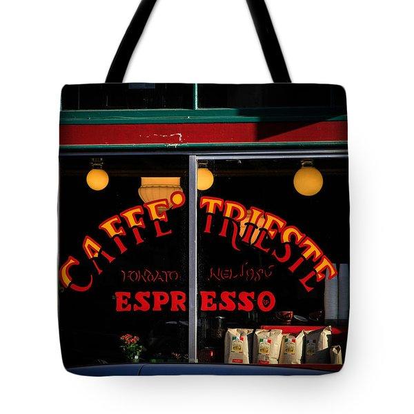 Caffe Trieste Espresso Window Tote Bag
