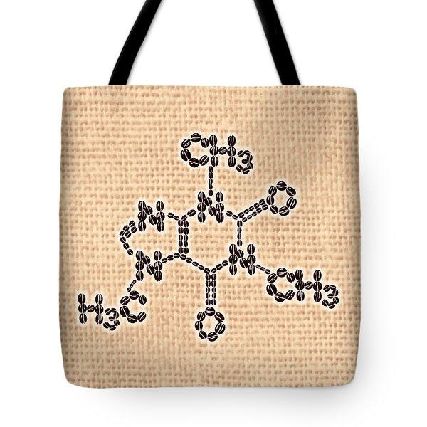 Tote Bag featuring the digital art Caffeine by Anastasiya Malakhova
