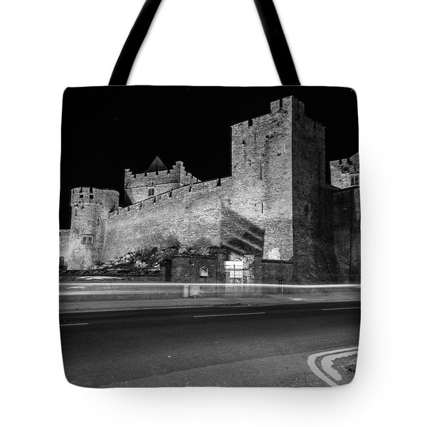 Cahir Castle At Night Tote Bag by Martina Fagan