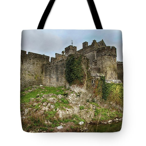 Tote Bag featuring the photograph Cahir Castle by Marie Leslie
