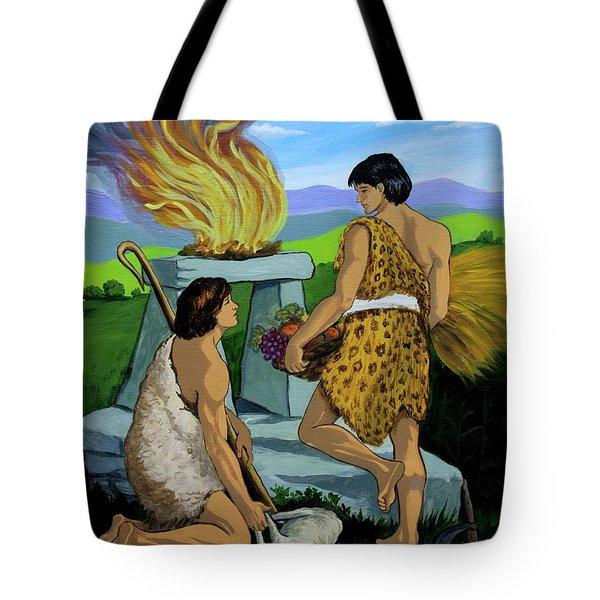 Cain And Abel Tote Bag by Karon Melillo DeVega