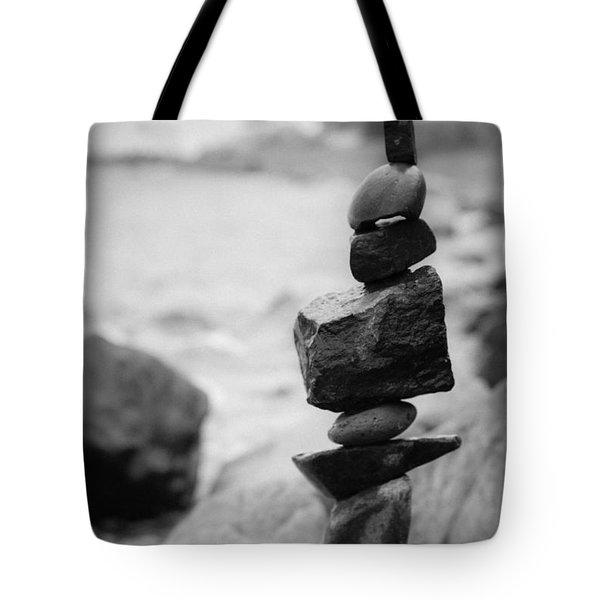 Cairn In Black And White Tote Bag