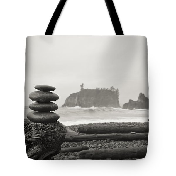 Cairn On A Beach Tote Bag