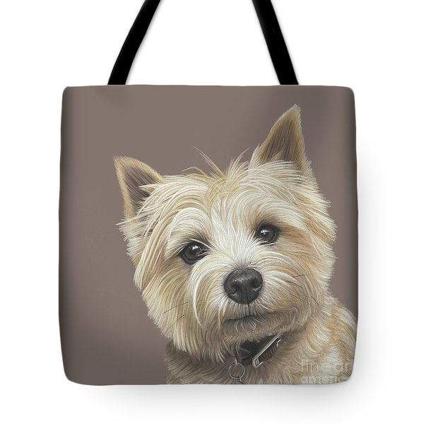 Tote Bag featuring the painting Cairn Terrier - Dave by Donna Mulley