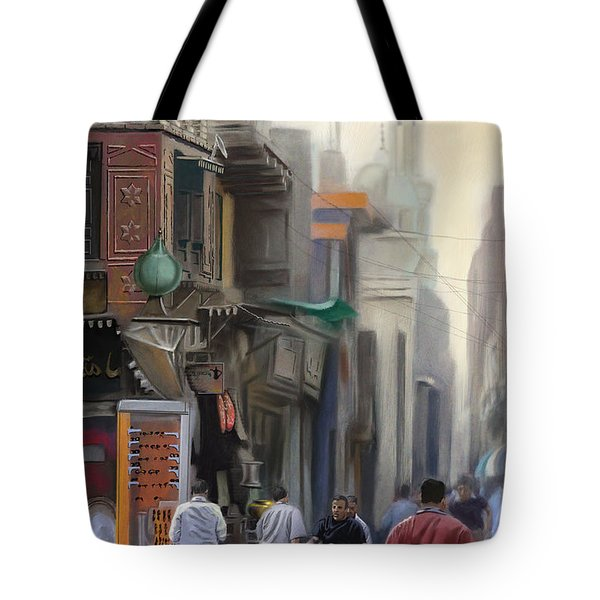 Cairo Street Market Tote Bag