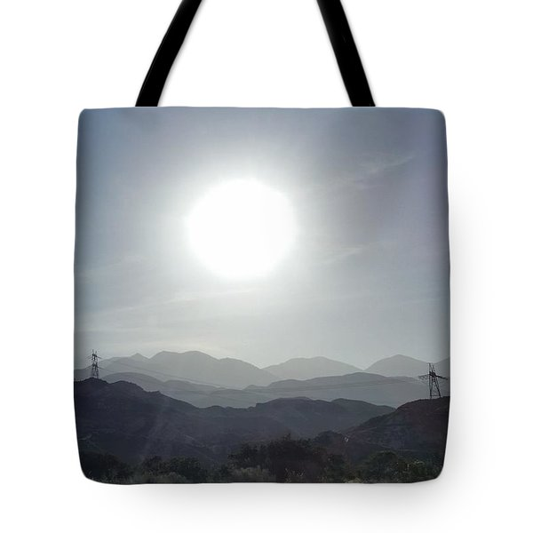 Cajon Pass Sunset Tote Bag